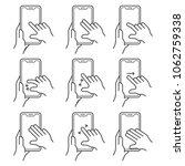 hand gesture over touchscreen... | Shutterstock .eps vector #1062759338