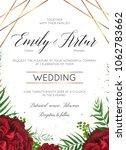 wedding floral invite ... | Shutterstock .eps vector #1062783662