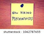 hiring psychiatrists classified ... | Shutterstock . vector #1062787655