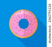 vector sweet glaze pink donut... | Shutterstock .eps vector #1062791126