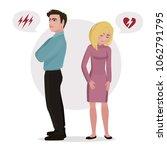 family quarrel. unhappy couple. ... | Shutterstock .eps vector #1062791795