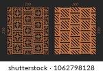 laser cutting interior set.... | Shutterstock .eps vector #1062798128
