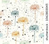 dandelion seamless pattern....   Shutterstock .eps vector #1062803045