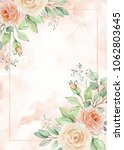 watercolor frame in soft pastel ... | Shutterstock . vector #1062803645