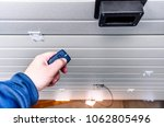 garage door pvc. hand use... | Shutterstock . vector #1062805496