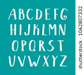 vector hand drawn white font.... | Shutterstock .eps vector #1062807332