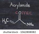 acrylamide molecule ...   Shutterstock . vector #1062808082