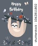 Happy Birthday Design With Cut...