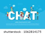 chat concept illustration of... | Shutterstock .eps vector #1062814175