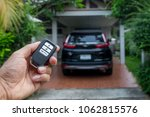 remote car keys  and black car... | Shutterstock . vector #1062815576