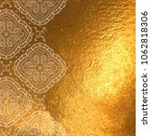 vector golden foil background... | Shutterstock .eps vector #1062818306