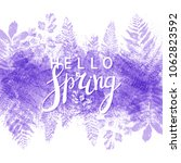 spring background with purple... | Shutterstock .eps vector #1062823592
