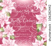 wedding card or invitation with ... | Shutterstock .eps vector #106282442