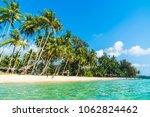 beautiful tropical beach and... | Shutterstock . vector #1062824462