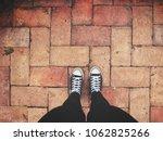 selfie of sneakers | Shutterstock . vector #1062825266