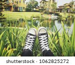 selfie of sneakers | Shutterstock . vector #1062825272