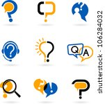 set of question and answer... | Shutterstock .eps vector #106284032