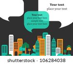 city talks  buildings and... | Shutterstock .eps vector #106284038