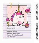 fantasy unicorn cute...   Shutterstock .eps vector #1062853028