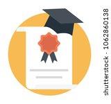 higher study degree... | Shutterstock .eps vector #1062860138
