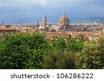 view of florence with duomo | Shutterstock . vector #106286222