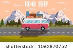 web banner on the theme of road ... | Shutterstock .eps vector #1062870752