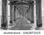 under u bein bridge in black...