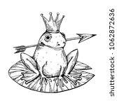 princess frog fairy tale animal ... | Shutterstock .eps vector #1062872636