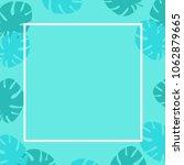 summer tropical leaves...   Shutterstock .eps vector #1062879665