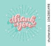 thank you card. vector... | Shutterstock .eps vector #1062881498