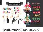 italian restaurant set  ... | Shutterstock .eps vector #1062887972