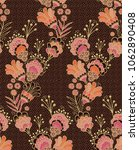 seamless ethnic fantasy floral...   Shutterstock .eps vector #1062890408