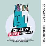 we are hiring designers... | Shutterstock .eps vector #1062893702
