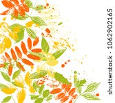 vector template with leaves... | Shutterstock .eps vector #1062902165