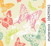 seamless pattern with flying... | Shutterstock .eps vector #106290362