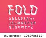 folded paper typography design... | Shutterstock .eps vector #1062906512