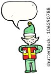 christmas elf cartoon | Shutterstock . vector #106290788