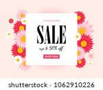 spring sale background with... | Shutterstock .eps vector #1062910226