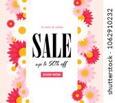 spring sale background with... | Shutterstock .eps vector #1062910232