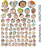 people face expression doodle... | Shutterstock .eps vector #106291202