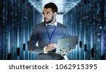 male it server technician... | Shutterstock . vector #1062915395