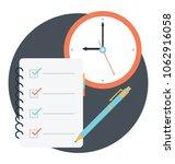 flat style work deadline... | Shutterstock .eps vector #1062916058