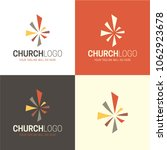 christian church logo and icon. ... | Shutterstock .eps vector #1062923678