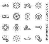 flat vector icon set   tandem... | Shutterstock .eps vector #1062924776