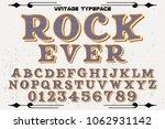 vintage font handcrafted vector ... | Shutterstock .eps vector #1062931142