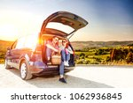 summer car on road and free... | Shutterstock . vector #1062936845