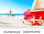 summer shell on beach and free... | Shutterstock . vector #1062941942