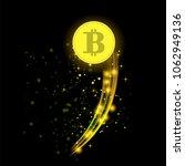 golden bitcoin isolated on... | Shutterstock . vector #1062949136