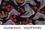 classical embroidery wings and... | Shutterstock .eps vector #1062950582