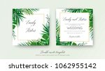 wedding floral double invite... | Shutterstock .eps vector #1062955142